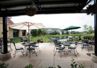 Thunder Bay Grille patio seating