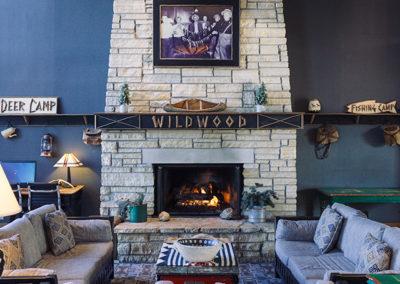 Wildwood Lodge fireplace